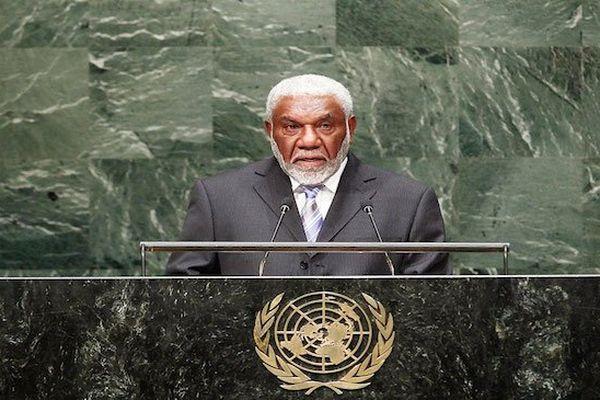 Le Premier Ministre Joe Natuman au siège des Nations-Unies