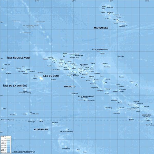 Carte Polynésie
