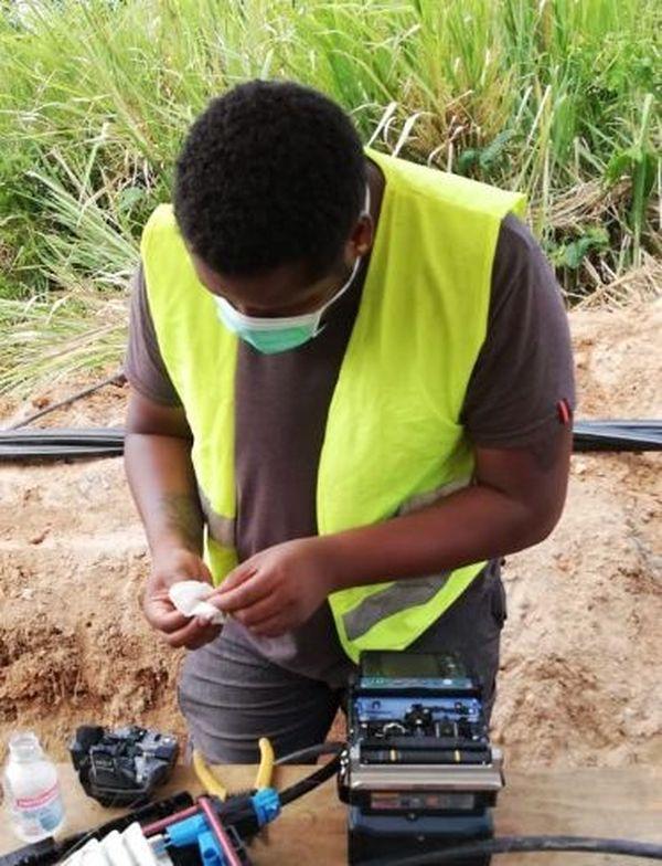 Réparation d'un câble fibre optique