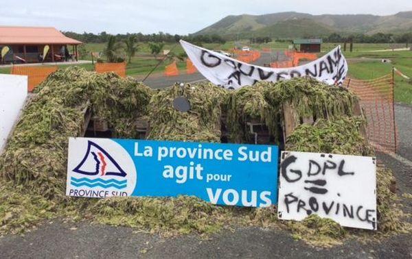 Blocage domaine de Deva, panneau province (3 février 2018)