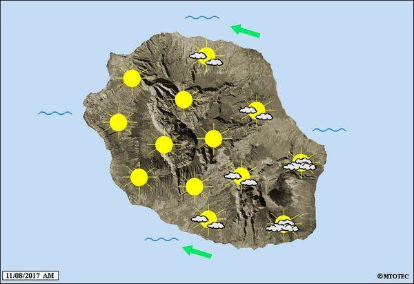 Carte météo du 11 août 2017