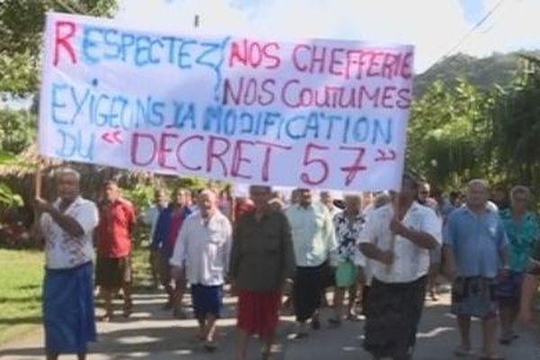 manifestation à Futuna