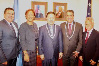 Fritch avec Ambassadeur Samoa