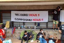Les demandeurs d'asile campent devant le tribunal administratif