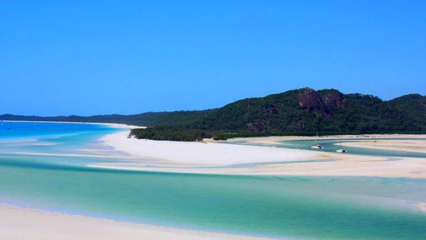 Plage de Whitehaven, aux Whitsundays, Australie