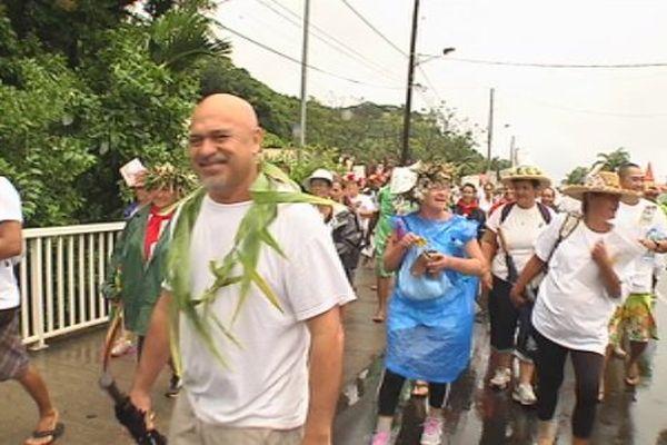 Marche contre l'Ecoparc Papenoo