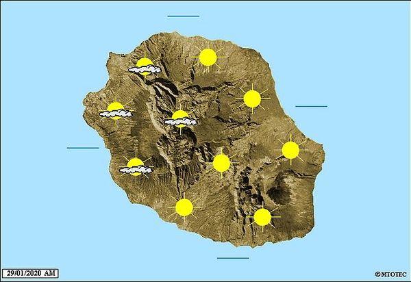 Carte météo 29 janvier 2020