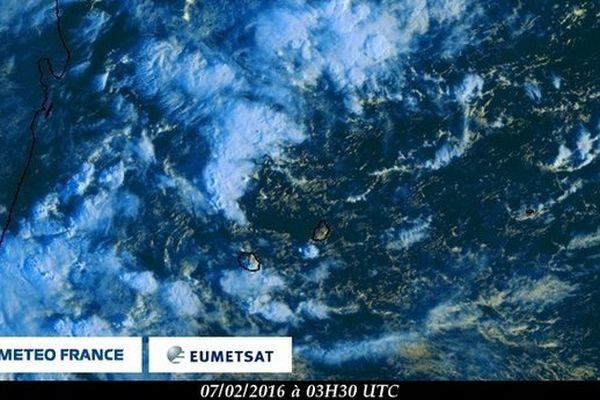 Image satellite Météo France Réunion Février 2016