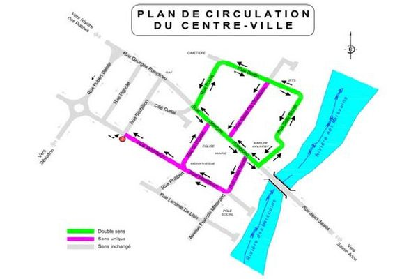 Plan de circulation de Saint-Benoît