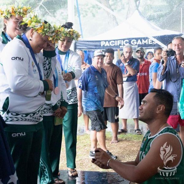Samoa 2019, demande en mariage au va'a