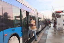 Bus à Haut Niveau de Service à Fort-de-France.