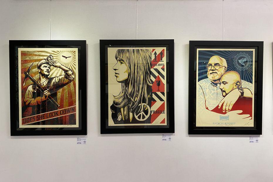Obey, street-artist américain, expose ses oeuvres à Nouméa - Nouvelle-Calédonie la 1ère