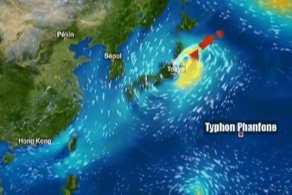 Le Japon paralysé par le typhon Phanfone