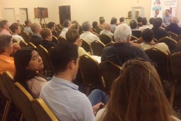 Rencontre candidats Backès Dunoyer Gomès et chefs d'entreprise salle Venezia (13 juin 2017)
