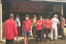 Des militants du MIM lors de la rentrée politique du mouvement (10 janvier 2021).