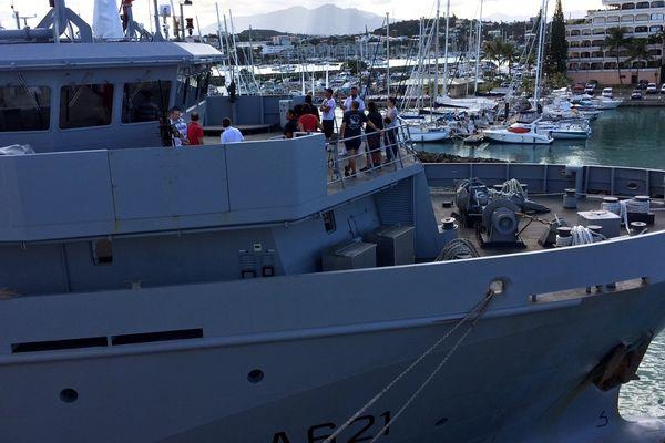 Portes ouvertes base navale pointe Chaleix bateau stationné 1 (24 avril 2017)
