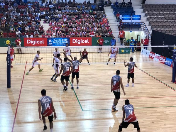 Samoa 2019, match de volley Tahiti-NC