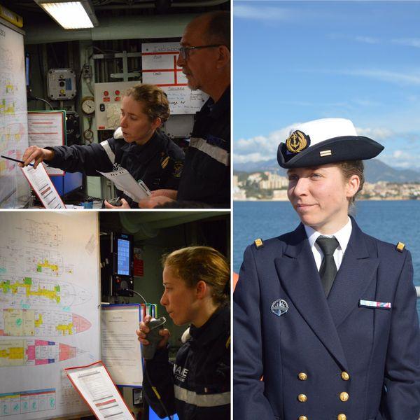 Jéromine s'est spécialisée dans la sécurité à bord en intégrant la Marine