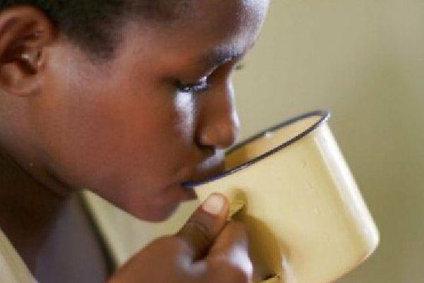 Un enfant papou atteint de la tuberculose