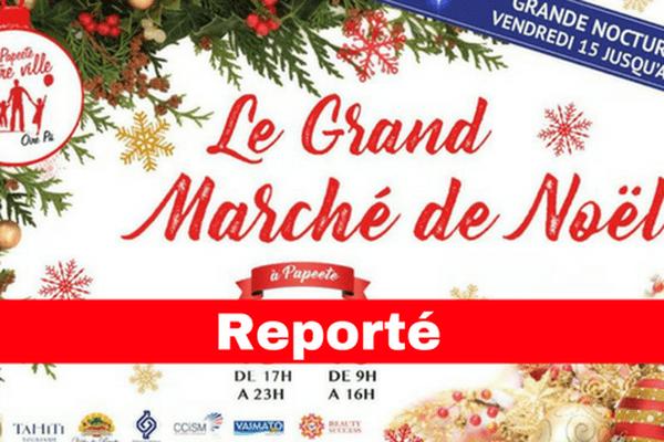 Le Grand Marché de Noël reporté