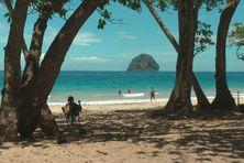 L'un des plus beaux endroits de Martinique : la plage du Diamant.