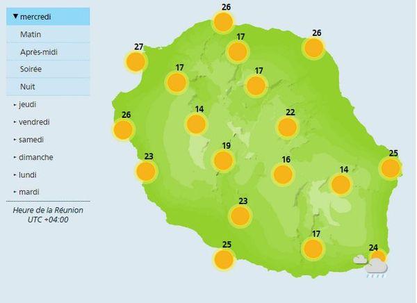 Carte météo 30 mai 2018