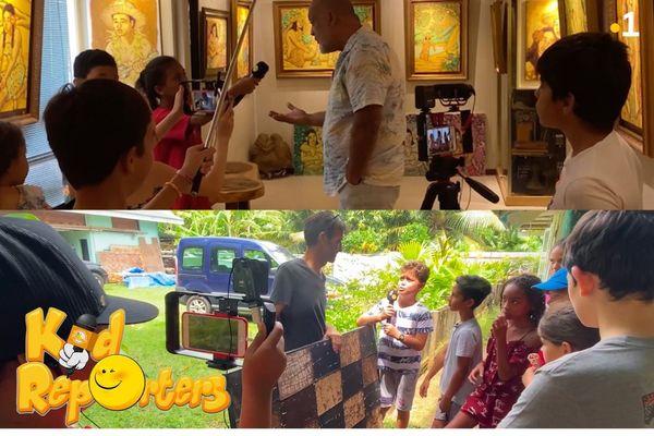 KID REPORTERS saison 3, épisode #2: le métier d'artiste-peintre et la fabrication de la peinture
