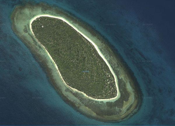 Vue satellite de l'îlot M'Ba.