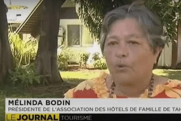 Mélinda Bodin, présidente de l'association des hôtels de famille de Tahiti et ses îles