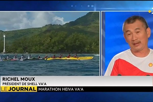 Richel Moux : président heureux de Shell Va'a.