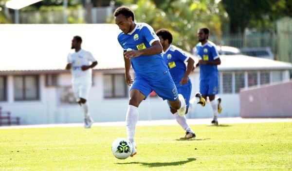 Match Hienghène-Lössi en 18e journée de super ligue 2018, à Nouméa (1-0).