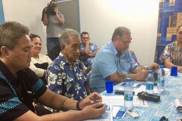 Valentina Cross à la conférence de presse du Tāvini Huira'atira