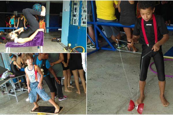 élèves de l'école du cirque