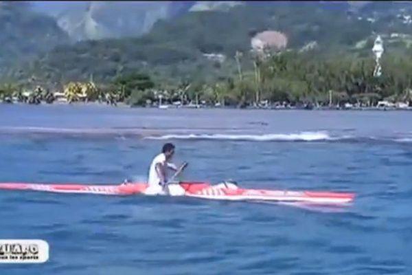 Kevin Kuider, vainqueur de la Tahiti to'a va'a