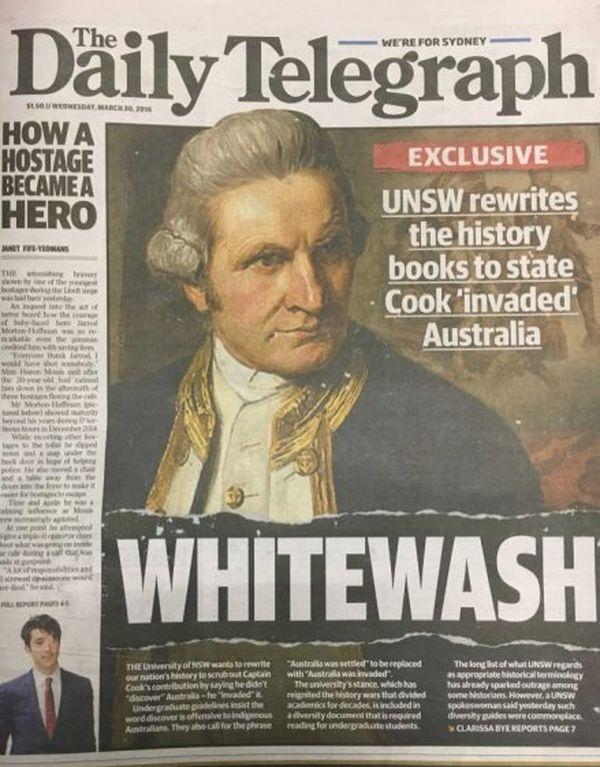 Une du daily Telegraph