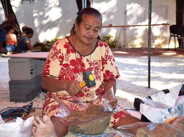 Photo Agnès Tini Rendez-vous aux jardins Musée Nouvelle-Calédonie fabrication huile parfumée (3 juin 2017)