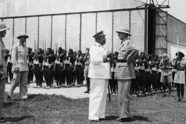 Eboué et de Gaulle Brazzaville