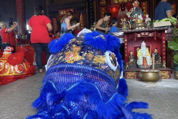 Lion du nouvel an chinois