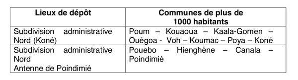 Dépôts candidatures municipales Nord