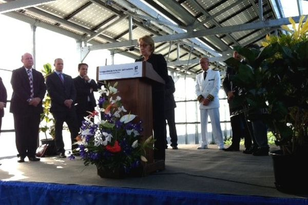 Inauguration ferme agri-solaire : Marylise Lebranchu à la tribune