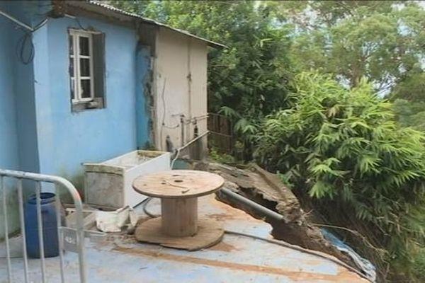 Maison évacuée Petit Tampon Berguitta