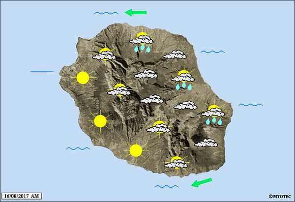 Carte météo du 16 août 2017