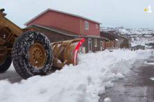 Les agents de la Dtam sont mobilisés pour évacuer la neige dans les lotissements.