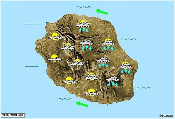 Carte météo 21 avril 2020