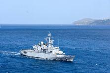 Le Germinal, l'une des Frégates de surveillance des Forces Armées aux Antilles.