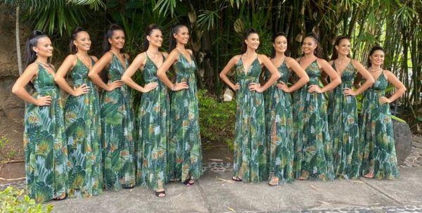 Candidates Miss Tahiti 2021
