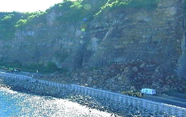 Route du Littoral éboulement en 2006