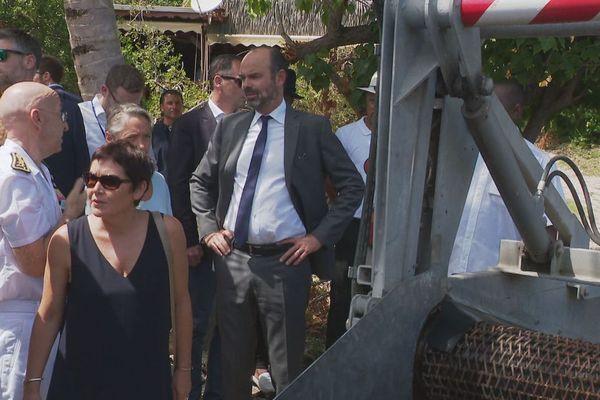 Edouard Philippe sur le terrain en Guadeloupe (samedi 26 octobre 2019)