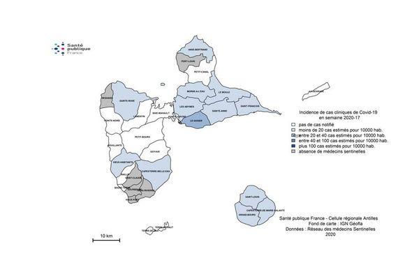 Cartographie covid en ville