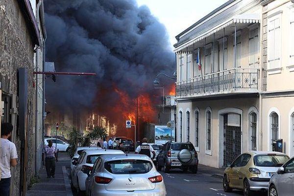 Incendie en centre ville de Saint-Denis, vendredi 18 janvier.